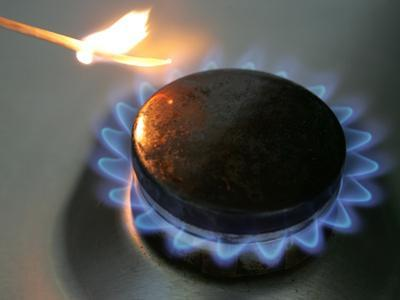 The Flame of a Gas Stove is Ignited in Bremen Germany