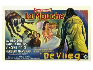 The Fly, Belgian Movie Poster, 1958