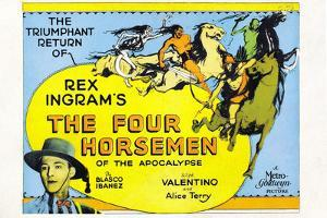 The Four Horsemen of the Apocalypse Movie Rudolphe Valentino Poster Print