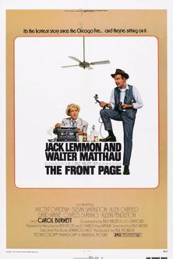 The Front Page, from Left: Jack Lemmon, Walter Matthau, 1974