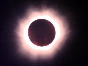 The Full Solar Eclipse is Seen in Saint Pierre Du Port Near Normandy, France