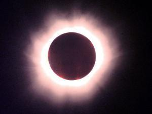 The Full Solar Eclipse is Seen in Saint Pierre Du Port Near Normandy, France