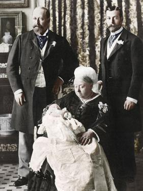 The Future King Edward Viiis Christening Day, 16 July 1894