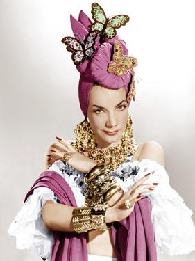 THE GANG'S ALL HERE, Carmen Miranda, 1943.