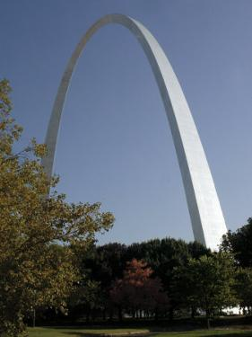 The Gateway Arch Rises High Above the Grounds of the Jefferson National Expansion Memorial