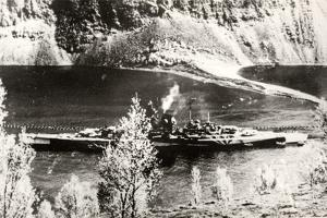 The German Battleship Tirpitz, Probably Photographed in a Norwegian Fjord