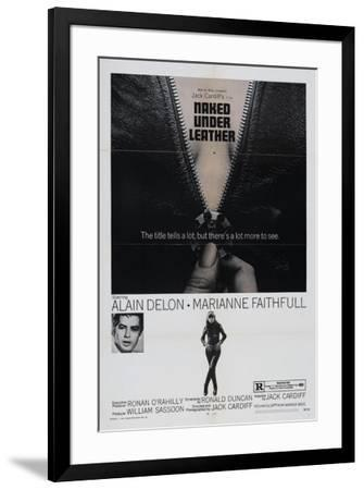 The Girl on a Motorcycle--Framed Poster