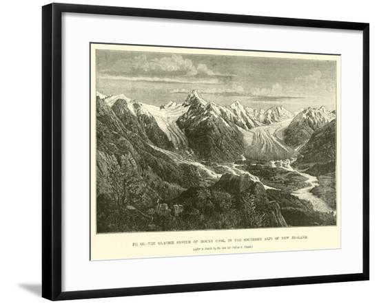 The Glacier System of Mount Cook, in the Southern Alps of New Zealand--Framed Giclee Print