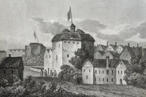The Globe Theatre Engraving