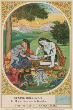 The God Shiva and His Family