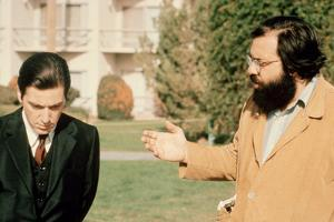The Godfather: Part II, Al Pacino, Director Francis Ford Coppola, on Set, 1974