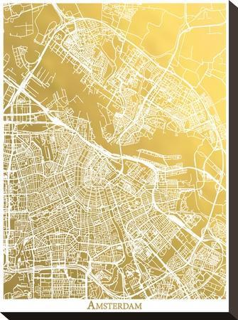 Amsterdam by The Gold Foil Map Company