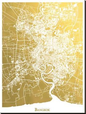 Bangkok by The Gold Foil Map Company
