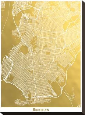 Brooklyn by The Gold Foil Map Company