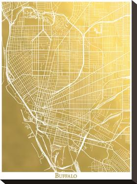 Buffalo by The Gold Foil Map Company