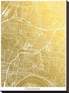Cincinnati by The Gold Foil Map Company