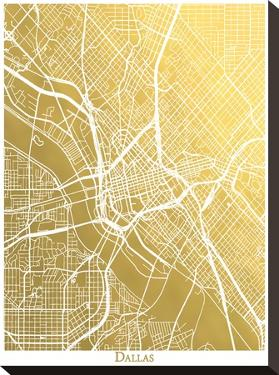 Dallas by The Gold Foil Map Company
