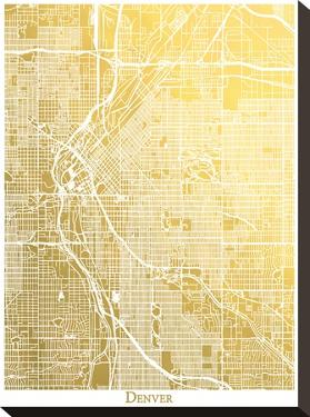 Denver by The Gold Foil Map Company