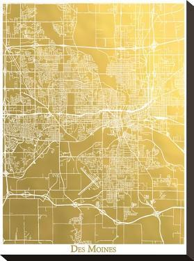 Des Moines by The Gold Foil Map Company
