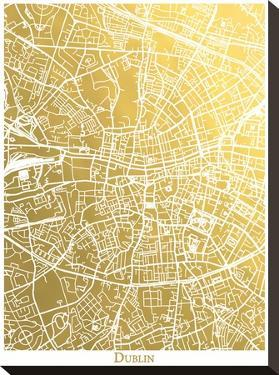 Dublin by The Gold Foil Map Company