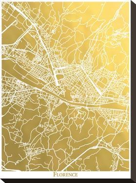 Florence by The Gold Foil Map Company