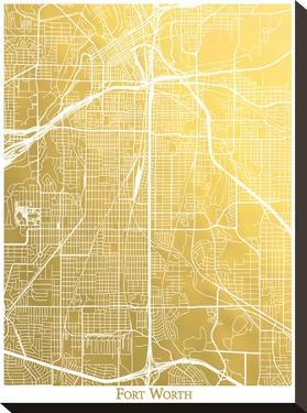 Fort Worth by The Gold Foil Map Company