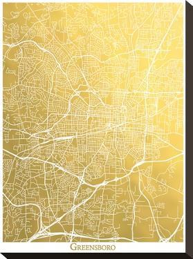 Greensboro by The Gold Foil Map Company