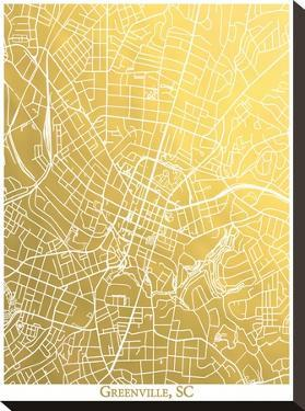 Greenville Sc by The Gold Foil Map Company