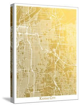 Kansas City by The Gold Foil Map Company
