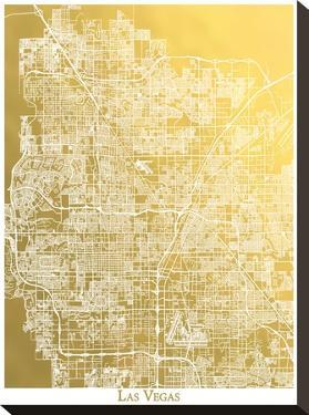Las Vegas by The Gold Foil Map Company