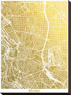 Madrid by The Gold Foil Map Company