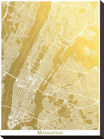 Manhattan by The Gold Foil Map Company
