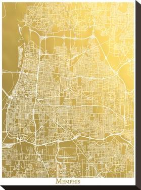 Memphis by The Gold Foil Map Company