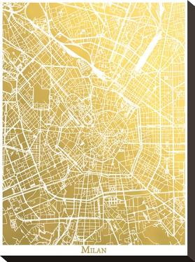 Milan by The Gold Foil Map Company