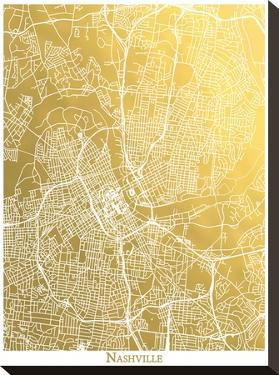 Nashville by The Gold Foil Map Company