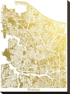 Norfolk by The Gold Foil Map Company