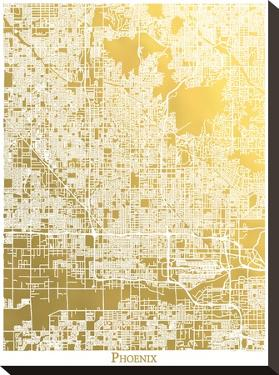 Phoenix by The Gold Foil Map Company