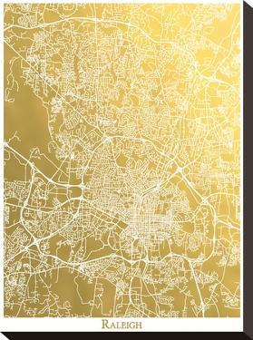 Raleigh by The Gold Foil Map Company