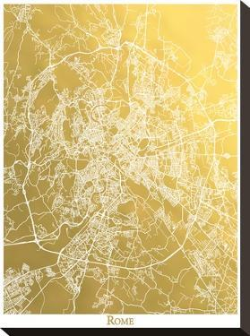Rome by The Gold Foil Map Company