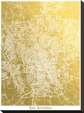 San Atonio by The Gold Foil Map Company