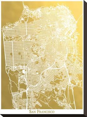 San Francisco by The Gold Foil Map Company