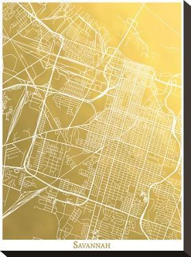 Savannah by The Gold Foil Map Company