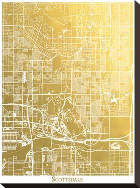 Scottsdale by The Gold Foil Map Company