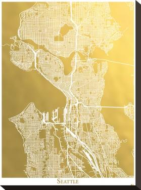 Seattle by The Gold Foil Map Company