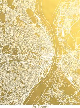 St Louis by The Gold Foil Map Company