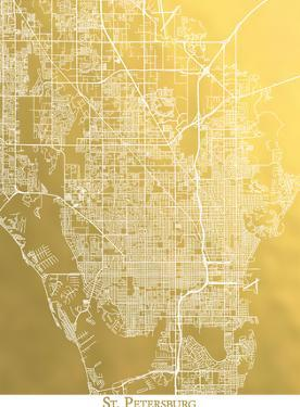 St Petersburg by The Gold Foil Map Company