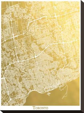 Toronto by The Gold Foil Map Company