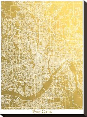 Twin Cities by The Gold Foil Map Company