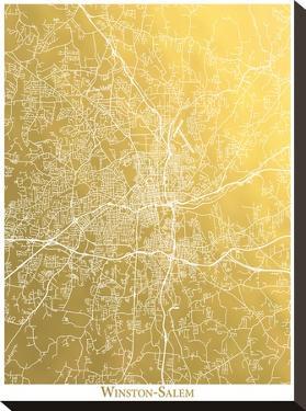 Winston Salem by The Gold Foil Map Company