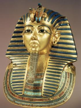 The Gold Funerary Mask, from the Tomb of Tutankhamun (circa 1370-52 BC) New Kingdom